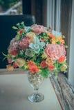 Fiore artificiale della decorazione variopinta fotografia stock libera da diritti
