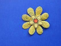 Fiore artificiale giallo Fotografia Stock