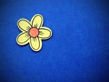 Fiore artificiale giallo Fotografia Stock Libera da Diritti