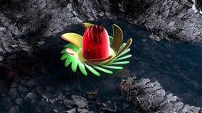 Fiore astratto illustrazione di stock