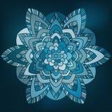 Fiore astratto blu Fotografia Stock Libera da Diritti