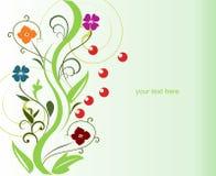 Fiore astratto della sorgente per il disegno Fotografie Stock Libere da Diritti