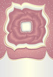 Fiore astratto di rosa di scarabocchio con l'argento dell'oro Fotografie Stock Libere da Diritti