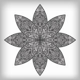 fiore astratto disegnato a mano Fotografia Stock Libera da Diritti