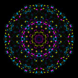 Fiore astratto Ruota variopinta creativa di vettore di stile Fotografia Stock Libera da Diritti