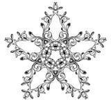 Fiore in bianco e nero della stella royalty illustrazione gratis