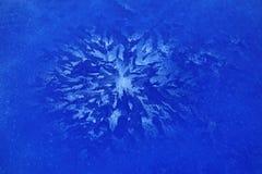 Fiore blu del ghiaccio Immagine Stock Libera da Diritti