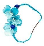 Fiore blu del tessuto Fotografia Stock Libera da Diritti