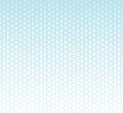 Fiore blu di pendenza della geometria sacra astratta del modello del semitono di vita illustrazione di stock