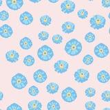 Fiore blu nasals Modello senza cuciture per la decorazione e la progettazione illustrazione vettoriale