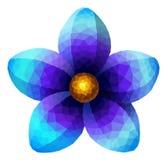 Fiore blu poligonale Fotografie Stock Libere da Diritti