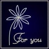 Fiore brillante con testo per voi Immagine Stock
