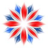 Fiore con i colori britannici della bandierina Fotografie Stock