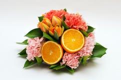 Fiore con l'arancia Immagini Stock Libere da Diritti