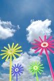 Fiore con le matite Fotografie Stock Libere da Diritti