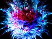 Fiore cosmico blu e magenta di frattale royalty illustrazione gratis