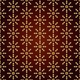 Fiore d'annata dell'oro e modello della freccia su fondo pastello Immagine Stock Libera da Diritti