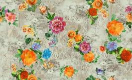 Fiore da ogni parte dei grafici variopinti digitali di immagine del modello di colore svegli illustrazione di stock
