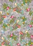 Fiore da ogni parte del pavone sveglio dei grafici variopinti digitali di immagine del modello di colore illustrazione vettoriale
