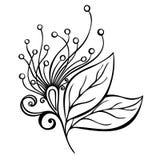 Fiore decorativo con le foglie Fotografie Stock