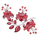 Fiore decorativo con stile orientale Fotografie Stock