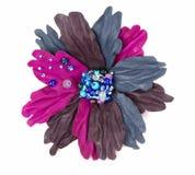 Fiore decorativo di cuoio Fotografia Stock Libera da Diritti