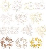 Fiore degli elementi di disegno Fotografia Stock