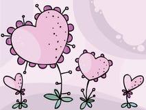 Fiore dei biglietti di S. Valentino Immagine Stock Libera da Diritti