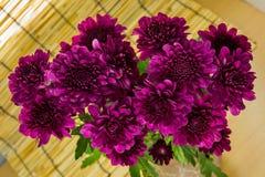 Fiore dei crisantemi sulla tavola Immagini Stock Libere da Diritti