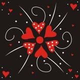 Fiore del biglietto di S. Valentino Immagini Stock