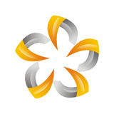 Fiore del cerchio Immagini Stock