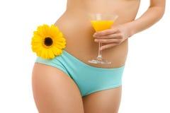 Fiore del corpo e juice-1 Immagine Stock