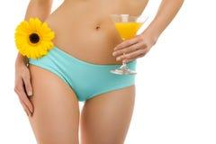 Fiore del corpo e juice-3 Fotografia Stock