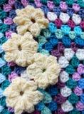 Fiore del Crochet fotografie stock libere da diritti