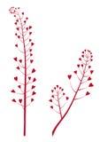 Fiore del cuore, priorità bassa floreale di vettore Immagine Stock Libera da Diritti