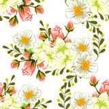 Fiore del fiore Reticolo senza giunte di eleganza astratta Fotografia Stock