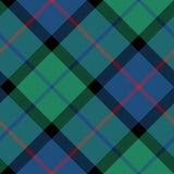 Fiore del modello diagonale senza cuciture di struttura del tessuto del tartan della Scozia Immagini Stock