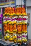 Fiore del tagete in Mumbai Fotografia Stock