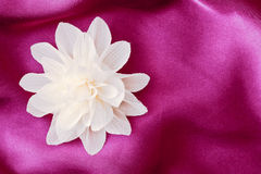 Fiore del tessuto Fotografia Stock Libera da Diritti