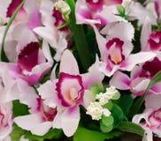 Fiore del tessuto, fondo floreale Fotografia Stock