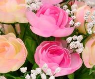 Fiore del tessuto, fondo floreale Fotografie Stock