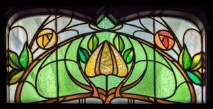 Fiore del vetro macchiato Fotografia Stock Libera da Diritti