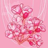 Fiore delicato della molla di vettore su fondo Fotografia Stock Libera da Diritti
