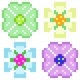 Fiore dell'icona di arte del pixel dell'illustrazione illustrazione vettoriale
