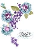 Fiore dell'illustrazione dell'acquerello nel fondo semplice royalty illustrazione gratis