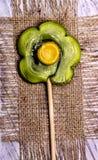 Fiore della caramella della lecca-lecca Fotografia Stock Libera da Diritti