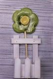 Fiore della caramella della lecca-lecca Fotografie Stock Libere da Diritti