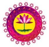 Fiore della mandala Fotografia Stock Libera da Diritti