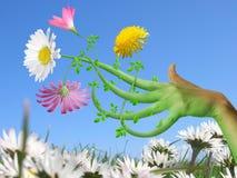 Fiore della mano Immagini Stock