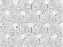 fiore della natura di forma del fan di arte del Libro Bianco 3D Immagine Stock